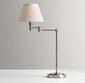 Ellis Swing-Arm Table Lamp with Shade - Antique Pewter