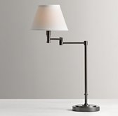 Ellis Swing-Arm Table Lamp with Shade - Chestnut