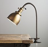 Industrial Era Task Clip Lamp Antique Brass