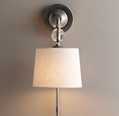 Lourdes Crystal Ball Sconce