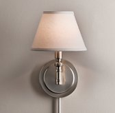 Petite Ellis Swing-Arm Sconce with Shade - Antique Pewter