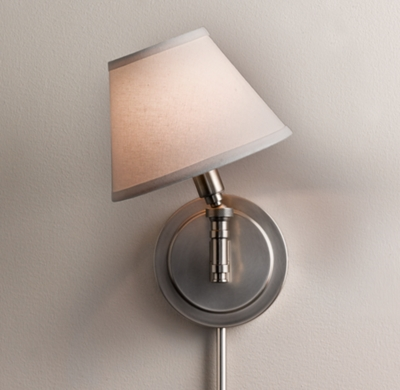 swing arm sconce with shade zef jam