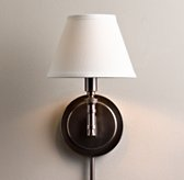Petite Ellis Swing-Arm Sconce with Shade - Chestnut