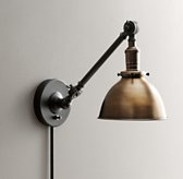Industrial Era Task Sconce Antique Brass