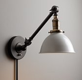 Industrial Era Task Sconce - Cream