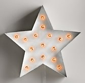 Vintage Illuminated Star - White