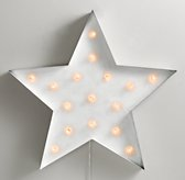 Vintage Illuminated Oversized Star - White
