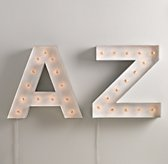 Vintage Illuminated Marquee Letter - White
