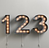 Vintage Illuminated Marquee Number