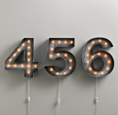 related images. Modern Bronze House Numbers Illuminated
