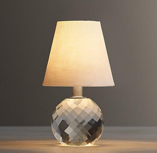Mini Lourdes Crystal Ball Lamp With Shade