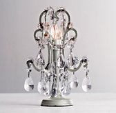 Mini Manor Court Crystal Lamp Aged Pewter