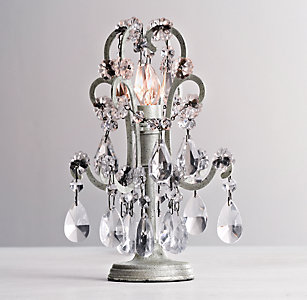 Nightlights rh baby child mini manor court crystal lamp aged pewter aloadofball Image collections