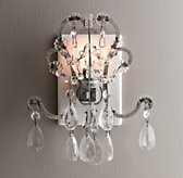 Manor Court Crystal Nightlight Aged Pewter