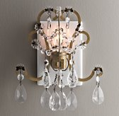Manor Court Crystal Nightlight Aged Gold