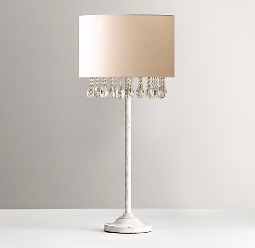 Nathalie crystal table lamp with shade
