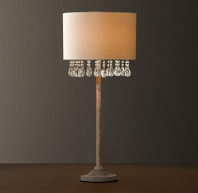 Nathalie Crystal Table Lamp With Shade
