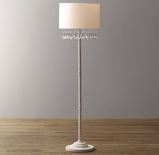 Nathalie crystal floor lamp with shade click to zoom aloadofball Images
