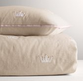 Appliquéd Crowns Duvet Cover