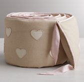 Appliquéd Hearts Crib Bumper
