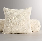 Chiffon Floral Decorative Pillow Cover