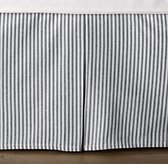 Garment-Dyed Ticking Stripe Crib Skirt