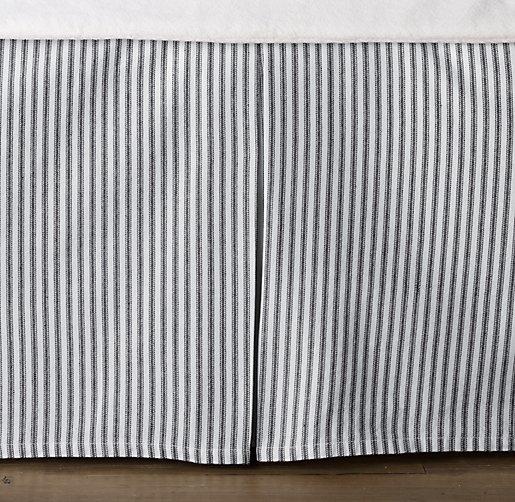 Garment Dyed Ticking Stripe Crib Skirt