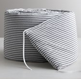 Garment-Dyed Ticking Stripe Crib Bumper