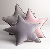 Washed Velvet Decorative Pillow - Star