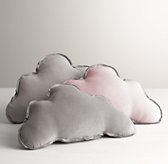 Washed Velvet Decorative Pillow - Cloud