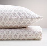 Washed Organic Linen Paisley Print Crib Fitted Sheet