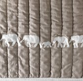 Appliquéd Elephant Ombré Bedding Swatch