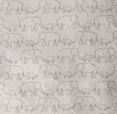 Washed Organic Linen Elephant Print Bedding Swatch