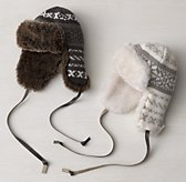 Fair Isle & Luxe Faux Fur Hat