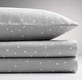 Dotted Flannel Sheet Set