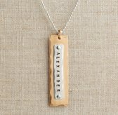 Personalized Layered Riveted Tag Necklace