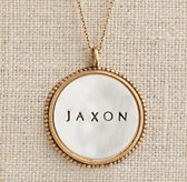 Personalized Large Round Beaded Charm