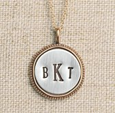 Personalized Small Round Beaded Charm