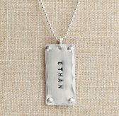 Sterling Silver Rivet Tag
