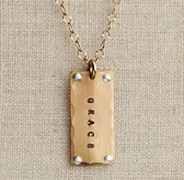 Gold-Filled Rivet Tag