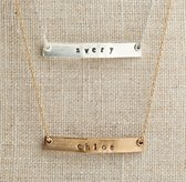 "Personalized 16"" Petite Bar Necklace"