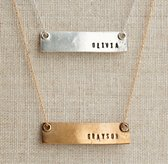 "Personalized 16"" Bar Necklace"