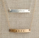 "Personalized 18"" Petite Bar Necklace"