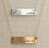 "Personalized 18""  Bar Necklace"