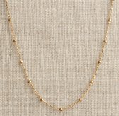 "18"" Gold-Filled Beaded Cable Chain"