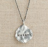 Personalized Large Sterling Silver Molten Coin