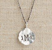 Personalized Medium Sterling Silver Molten Coin