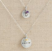 Petite Personalized Large Charm Necklace - Sterling Silver