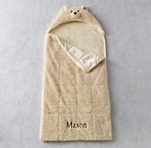 Shaggy Plush Hooded Sleeping Bag - Bear