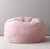 Washed Velvet Bean Bag Cover - Dusty Rose